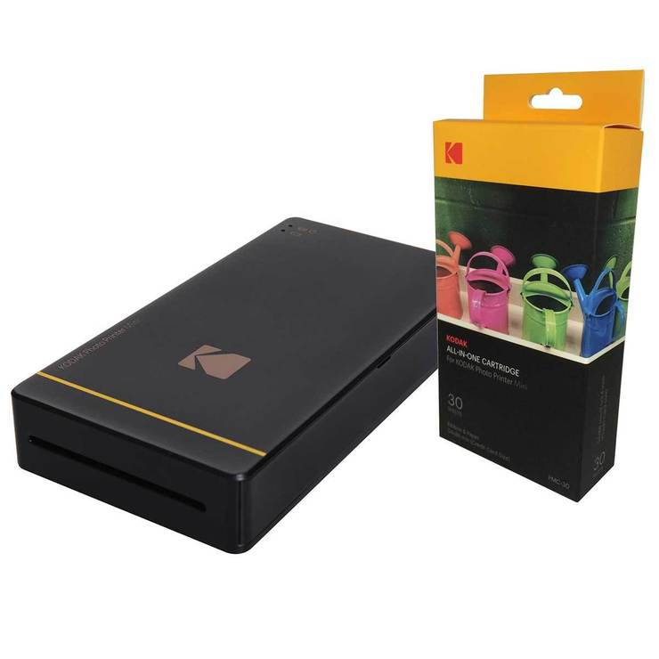 Kodak Mini Mobile Photo Printer And All In One Paper Colour Ink Cartridges