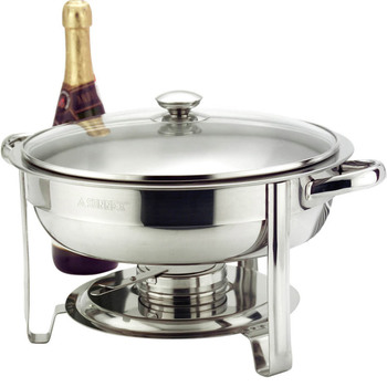 Zodiac 4.5 Litre Round Chafing Dish, Stainless Steel