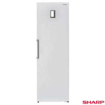 Sharp SJ-S1251E0W Single Door Tall Freezer in White, A+ Rating